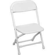 Kids White Plastic Folding Chair [PPFCKID-White]