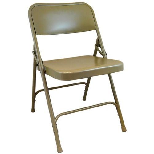 Beige Metal Folding Chairs Double Braced Folding Chairs