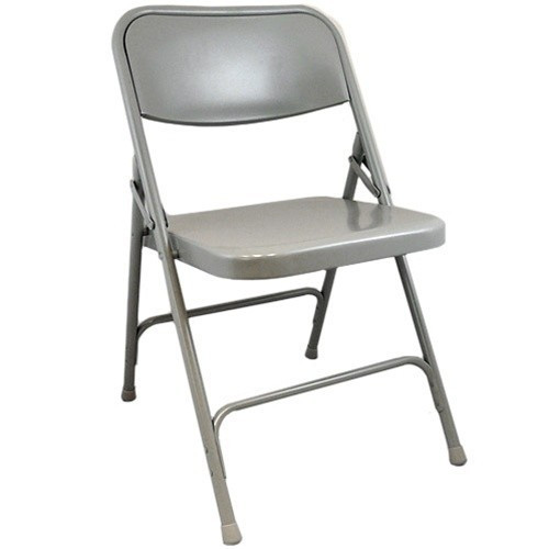 Gray Metal Folding Chairs Double Braced Folding Chairs