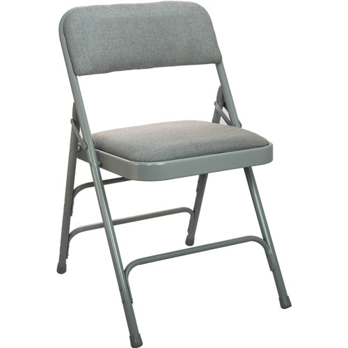 Gray Fabric Padded Folding Chairs Metal Folding Chairs