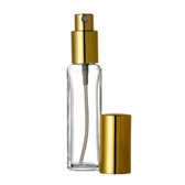 1 oz [30 ml] Clear Square Glass Bottle With Spray [6 Pcs]