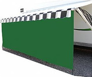 17' Protex 85% Awning Drape with 8' Drop