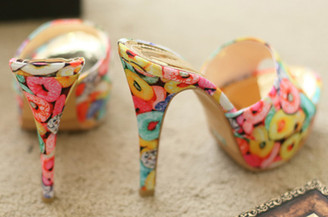 Candy Covered Platform Heels