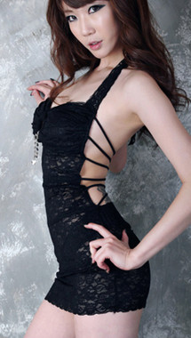 Black Lace With Sexy Back