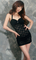 Sexy Girl Black Lace Club Dress