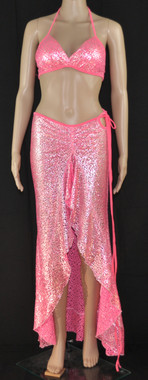 Hello Boys Pink Bling Bra and Long Dress