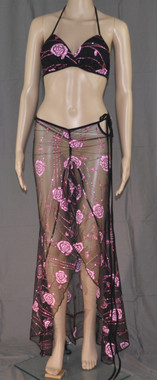 Pink Rose Bra and Long Dress
