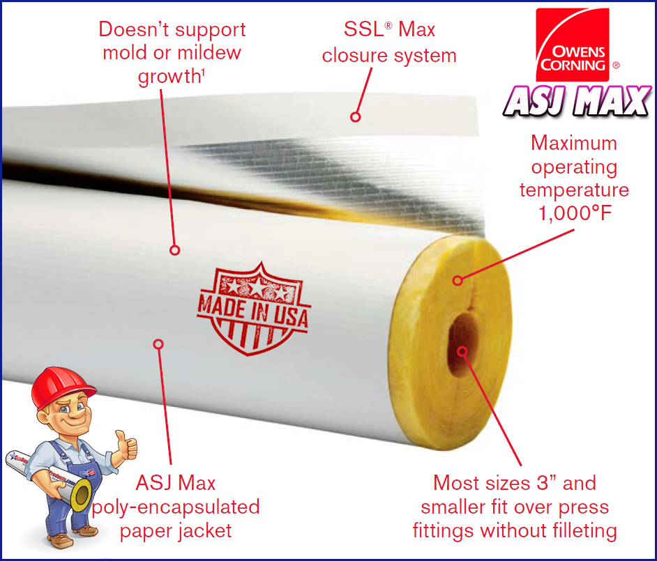 How To Install Owens Corning Asj Max Fiberglass Pipe