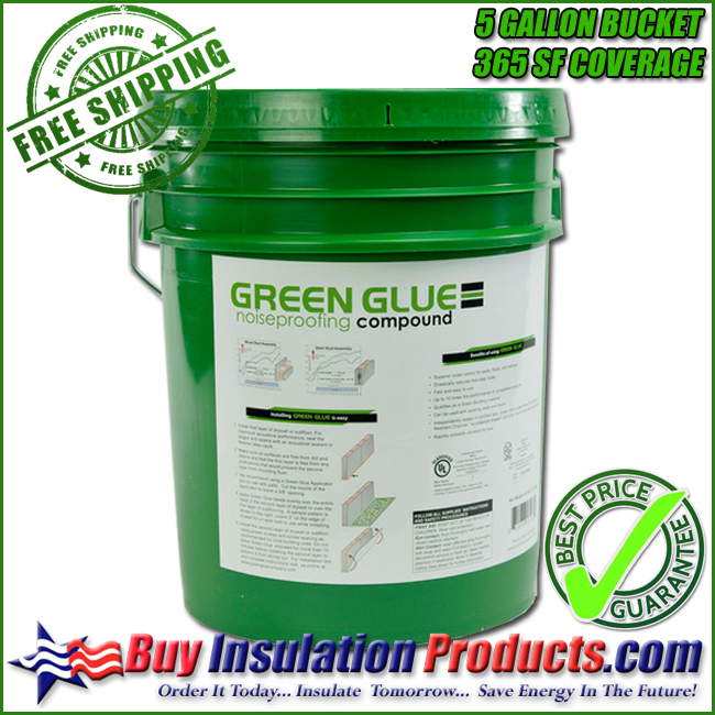 Green Glue Noiseproofing Compound in 5 Gallon Pail