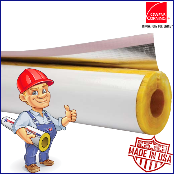 Owens Corning Asj Max Fiberglas Pipe Insulation Code Compliance Buy Insulation Products