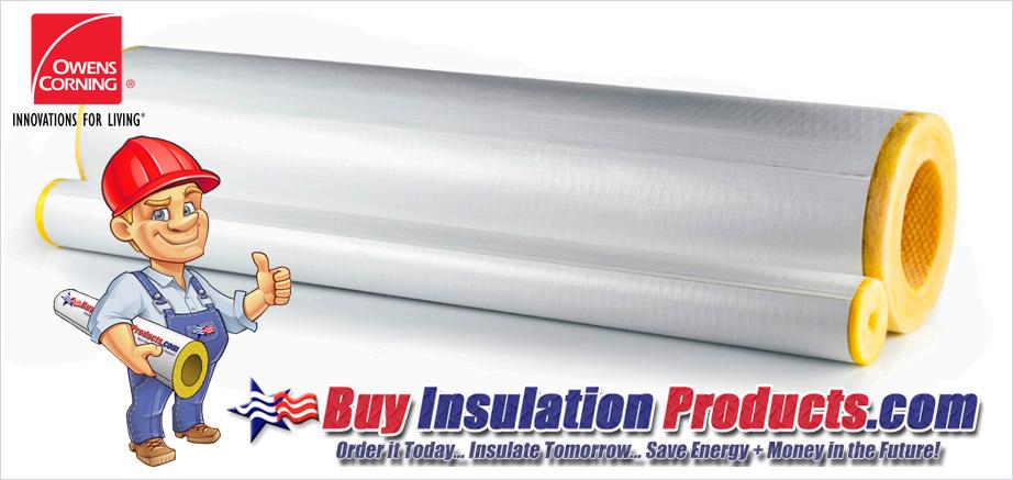 Owens Corning Fiberglass Pipe Insulation ASJ MAX SSLII
