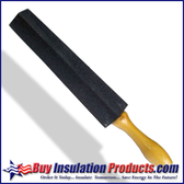 "Insulators prefer to use sharp knives, and the only way to keep a knife sharp is to sharpen it daily.  The 14"" long carborundum sharpening stone has an easy grip contoured wooden handle."