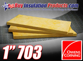 "1"" Thick Owens Corning Fiberglass Acoustic Board"