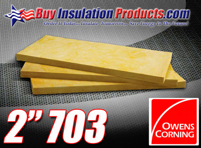 "Owens Corning 703 Fiberglass Board - 2"" Thick"