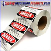Asbestos Generator Warning Labels