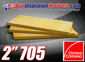 "Owens Corning 705 Heavy Density Fiberglass Acoustic Board 2"" thick"