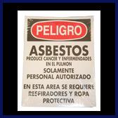 Danger Asbestos Signs (Spanish)