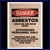 Danger Asbestos Signs (English)
