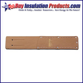 """Leather Knife Sheath for 6"""" Rubber Knife"""