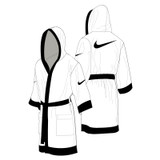 Nike Boxing Robe - White / Black