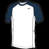 Nike Elite Short Sleeve Shooter - White / Navy