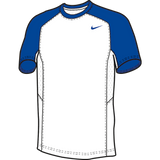 Nike Elite Short Sleeve Shooter - White / Royal
