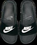 "Nike Men's Benassi ""Just Do It"" Sandal - Black/White"