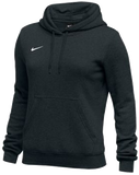 Nike Women's Club Fleece Hoody - Black/White