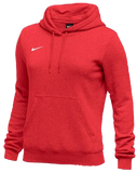 Nike Women's Club Fleece Hoody - Scarlet/White