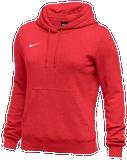 Nike Women's Club Fleece Hoody - Scarlet/White