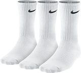 Nike Unisex Performance Lightweight Crew Sock 3 pack - White/Black