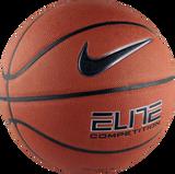 Nike Elite Competition 8-Panel (Size 7) Basketball - Amber/Black/Platinum
