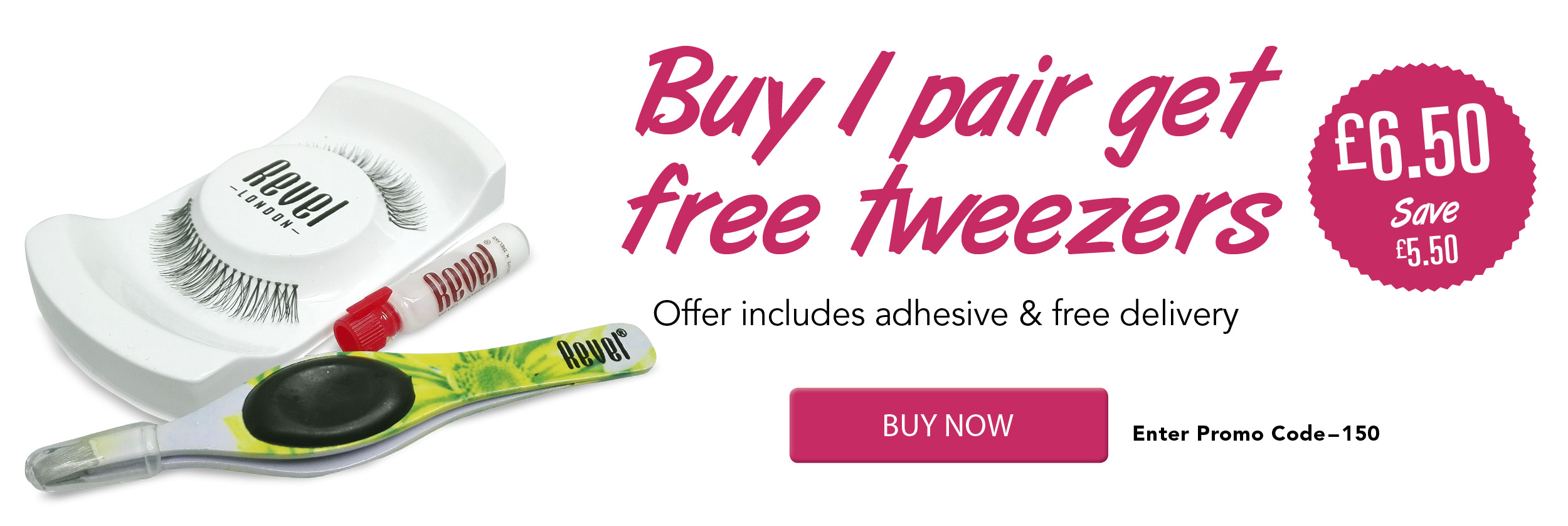 306455d5bfe Order a pair of strip lashes for only £6.50, offer includes adhesive, 1 free  tweezer & free delivery. While stocks last.Check out using Promo code:150.