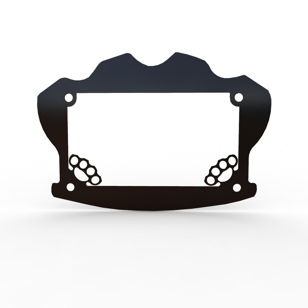 Brass Knuckle Motorcycle Motorcycle License Plate Frame Cover - 1 ...