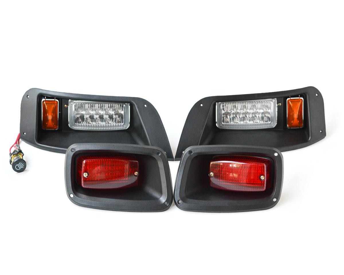 Ezgo Txt Golf Cart Light Kit Basic Halogen Led Lights Wiring Harness