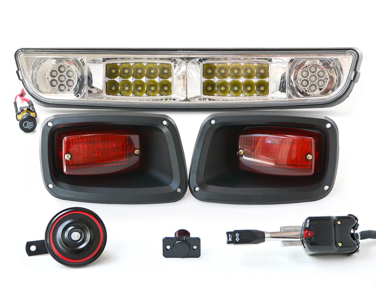 Ezgo Txt Golf Cart Lights Kit Street Legal Halogen Led Light Bar 2012 Ez Go 48 Volt Wiring Diagram