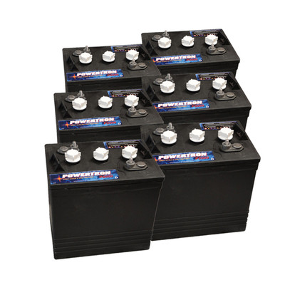 6 volt golf cart batteries powertron p2000 6v 210ah 6. Black Bedroom Furniture Sets. Home Design Ideas