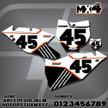 KTM MX4 Number Plates