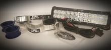 "12"" Hardwired Light Bar & Factory Baja Gore Fork Mount Kit"