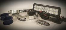 "10"" Hardwired Light Bar & Factory Baja Gore Fork Mount Kit"