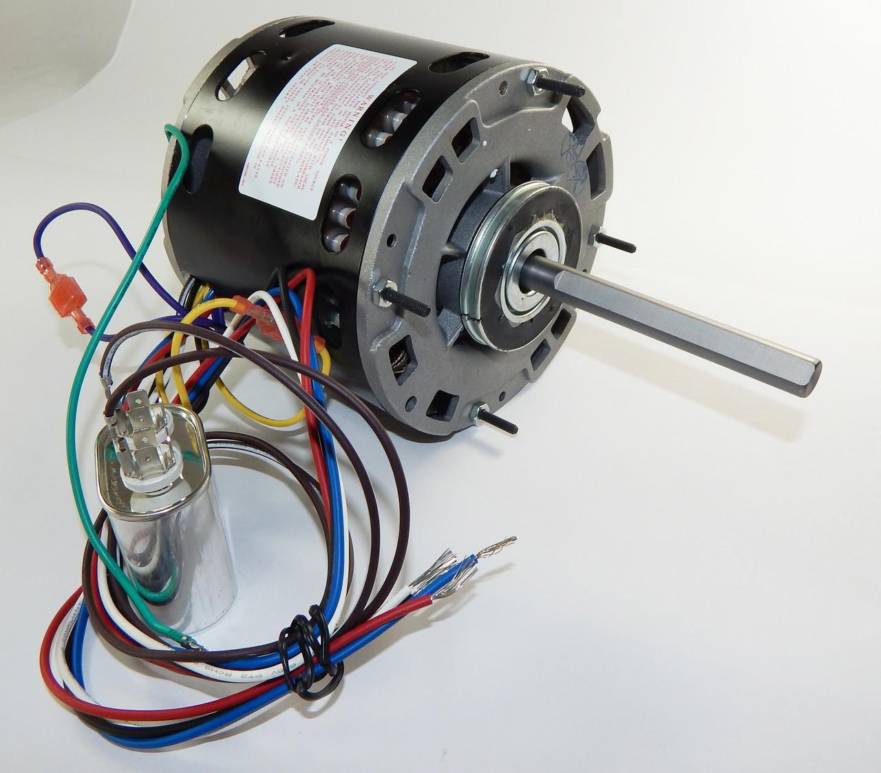 1/2 hp 1075 RPM 3-Speed 48 Frame 115V Direct Drive Furnace Motor ...