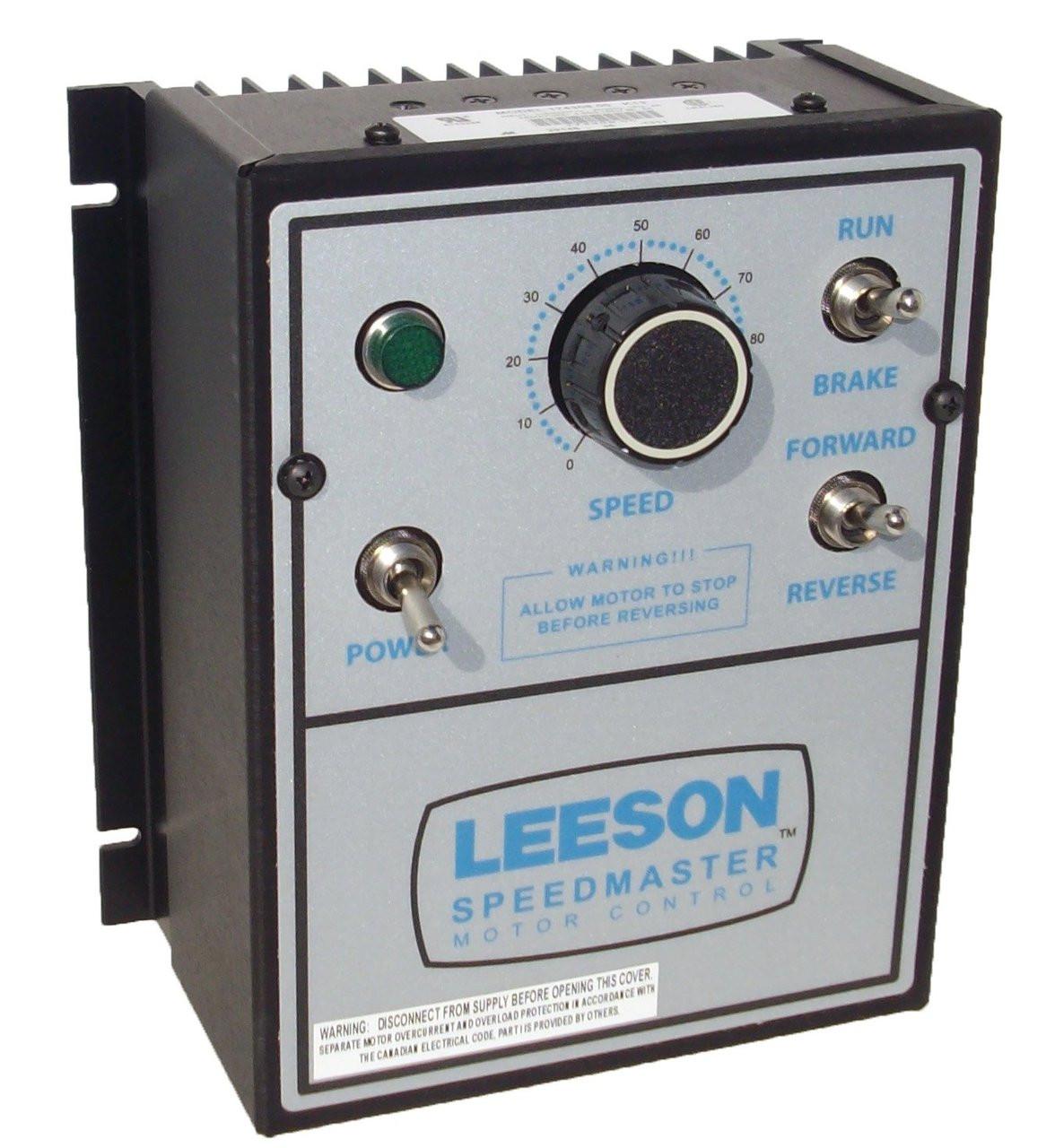 Leeson DC Motor Control # 174308 - NEMA 1 - 90/180VDC, 1/8 hp to 2 ...