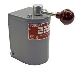 1.5 hp - 2 hp Electric Motor Reversing Drum Switch - Single Phase Only - Spring Returned # RS-1A-MS