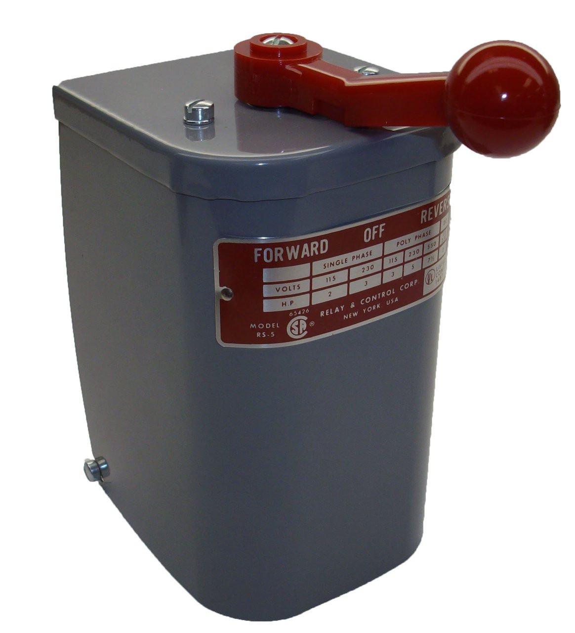 2 hp - 3 hp Electric Motor Reversing Drum Switch - Position ...