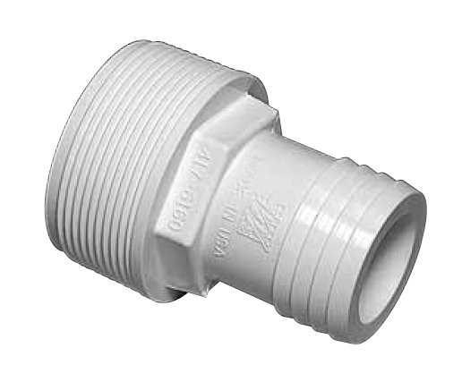 1 5 Quot Pvc Straight Hose Adapter For Above Ground Pool Pump
