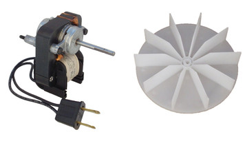 Universal Bathroom Fan Replacement Electric Motor Kit with Fan 115V # C01575