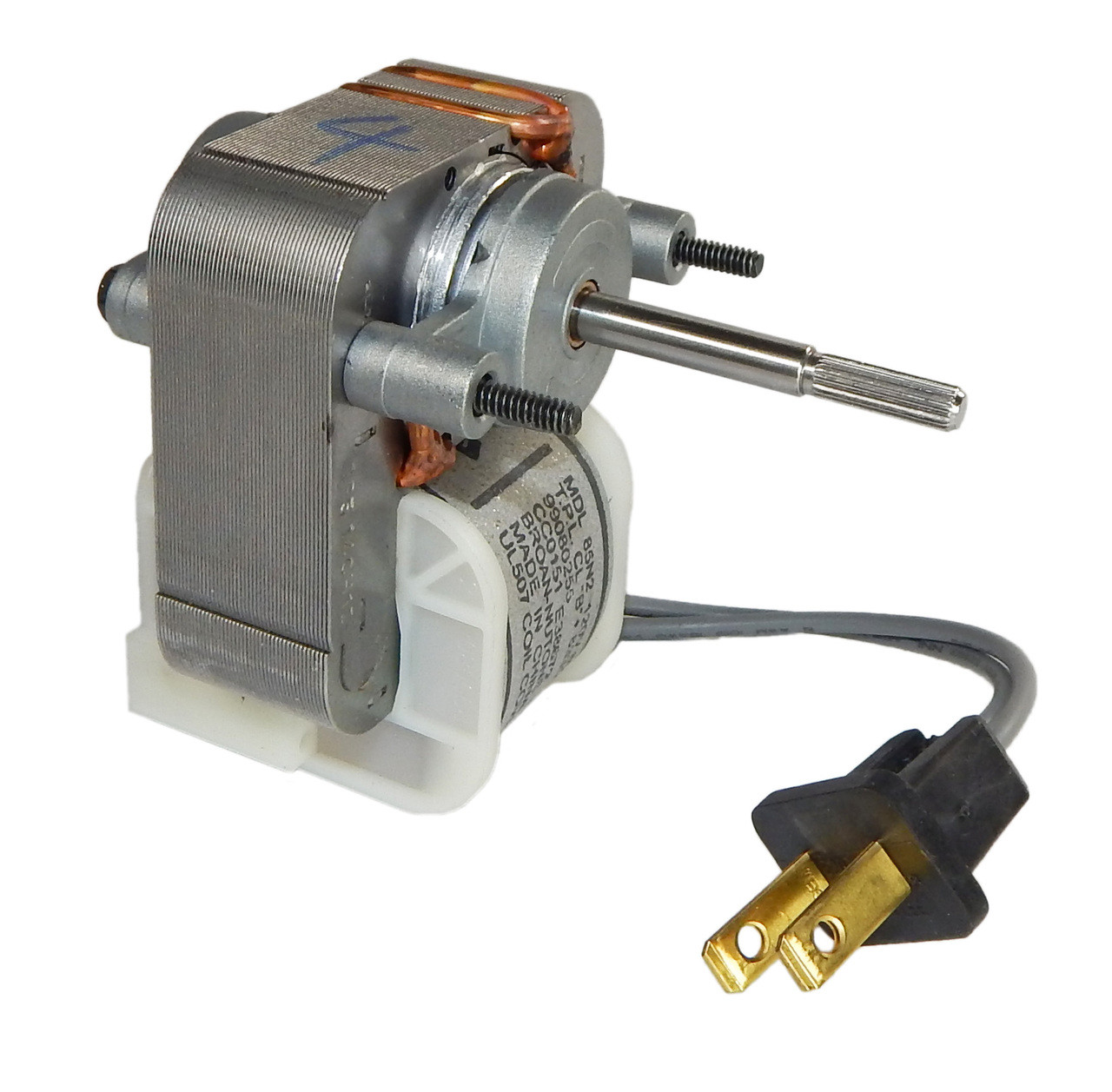 ... Replacement Bath Fan Motor # 99080255, 1.5 Amps, 1500 RPM, 120V. Image 1