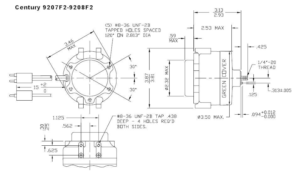 3-N-1 Refrigeration Fan Motor 12 Watt 1550 RPM 115V ECM Design ...