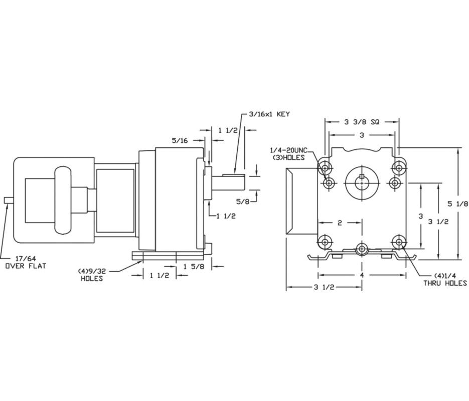 dayton model 4z519 gear motor 30 rpm 1 15hp 115 230v rh electricmotorwarehouse com Dayton Wiring-Diagram 5K96ob Dayton 2X441 Wiring-Diagram