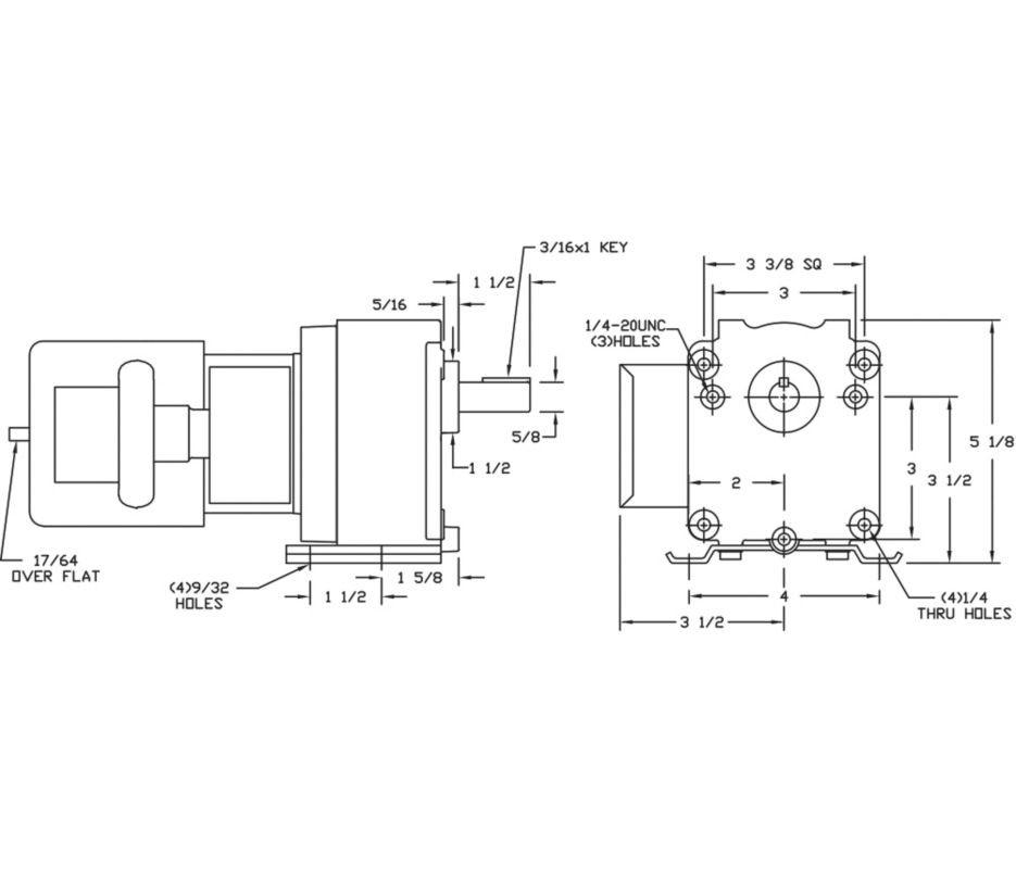 Dayton model 4z523 gear motor 139 rpm 115 hp 115230v cheapraybanclubmaster Choice Image